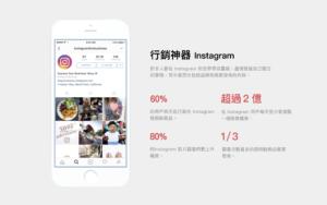 60%的使用者表示會在Instagram尋找想要的產品